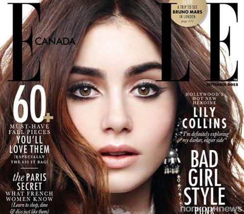 Лили Коллинз в журнале Elle Канада. Сентябрь 2013