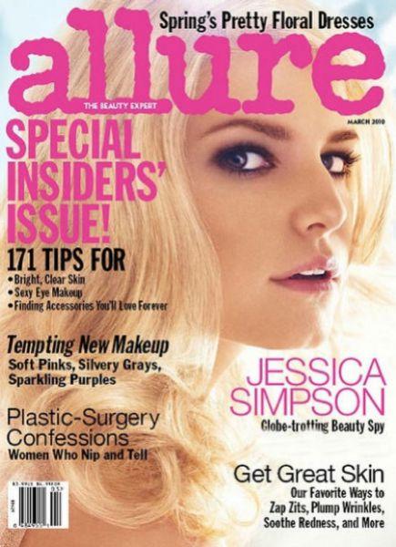 Джессика Симпсон в журнале Allure. Март 2010