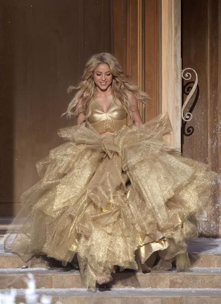 Шакира на съемках рекламы шампанского