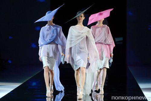 Модный показ новой коллекции Giorgio Armani. Весна / лето 2014