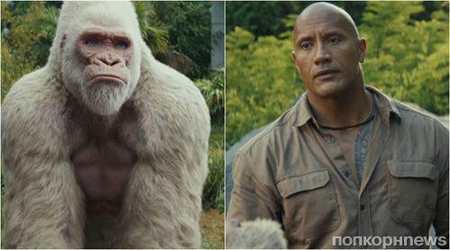 Дуэйн Джонсон и его лучший друг-горилла в новом трейлере «Рэмпейдж»