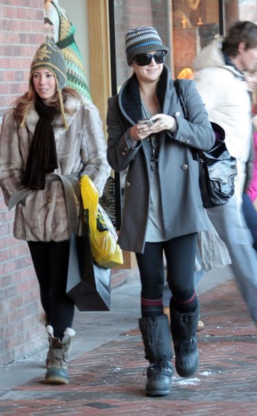 Кейт Хадсон и Голди Хоун: шоппинг в Аспене