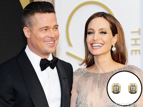 Анджелина Джоли разработала аксессуары для смокинга Брэда Питта