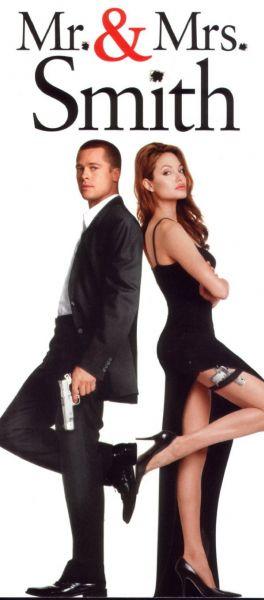 Анджелина Джоли и Брэд Питт в рекламе губок для мытья посуды