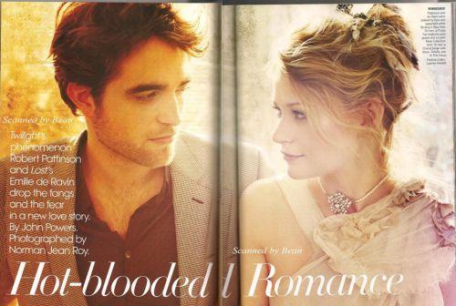 Роберт Паттинсон и Эмили де Рэйвин в журнале Vogue US. Март 2010