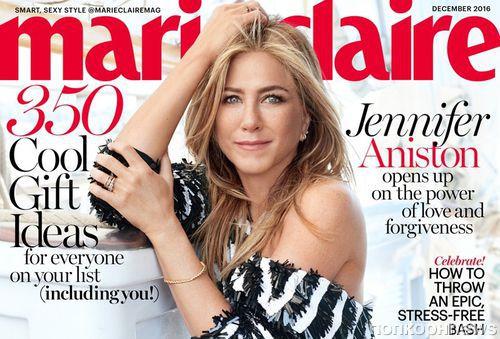Дженнифер Энистон в фотосете для Marie Claire: о браке, слухах и клише