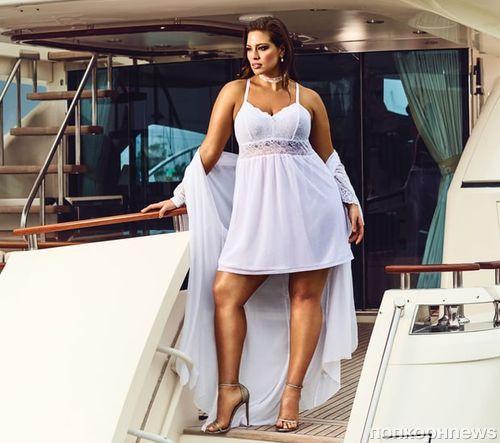 Модель Plus-size Эшли Грэм снялась в рекламе нижнего белья