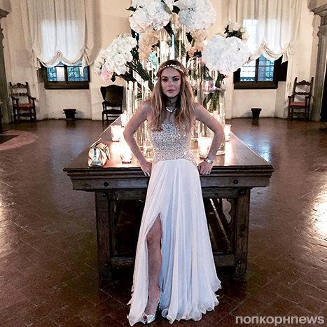 Линдси Лохан устроила пьяную выходку на свадьбе друзей