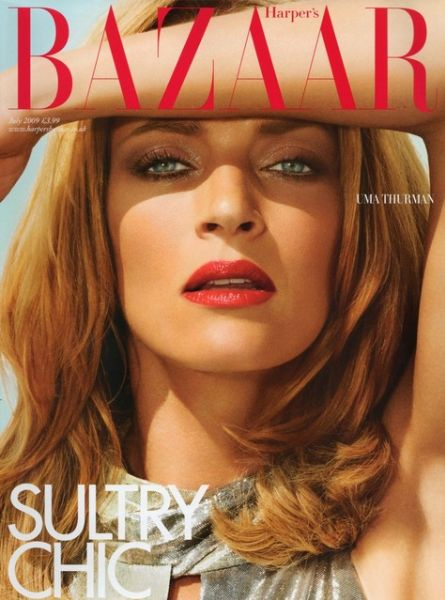 Ума Турман в журнале Harper's Bazaar. UK. Июль 2009