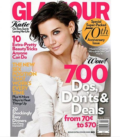 Кэти Холмс в журнале Glamour. Апрель 2009