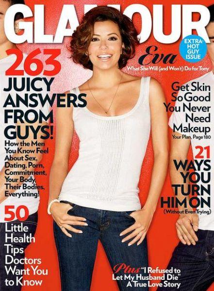 Ева Лонгория в журнале Glamour. Февраль 2009
