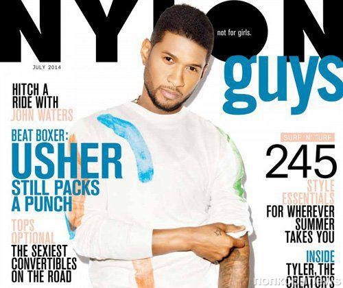 Ашер в журнале Nylon Guys. Июль 2014