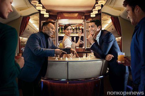 Криштиану Роналду и Пелле в рекламном ролике Emirates