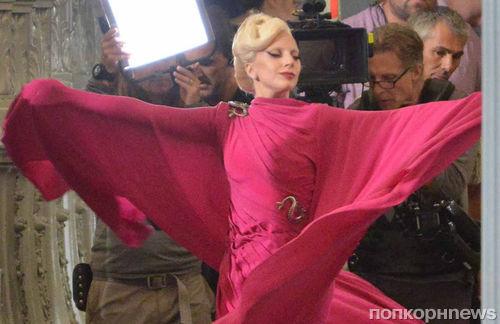 Фото: Леди Гага на съемках «Американской истории ужасов: Отель»