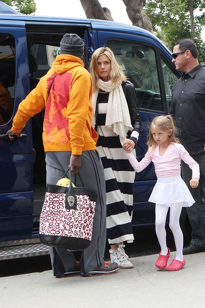 Хайди Клум с семьей в Брентвуде