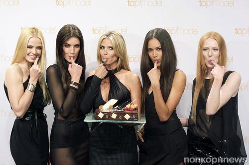 Хайди Клум на фотоколле шоу Germany's Next Topmodel