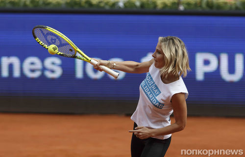 Эльза Патаки и Колтон Хэйнс сыграли в теннис с Сереной Уильямс
