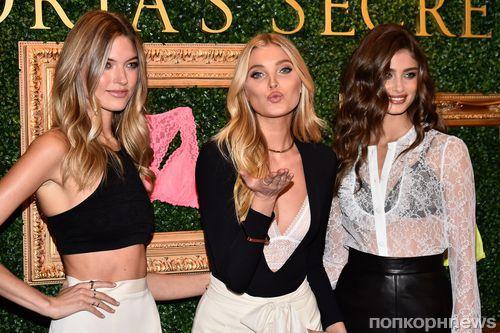 «Ангелы» Victoria's Secret на презентации новой коллекции в Нью-Йорке