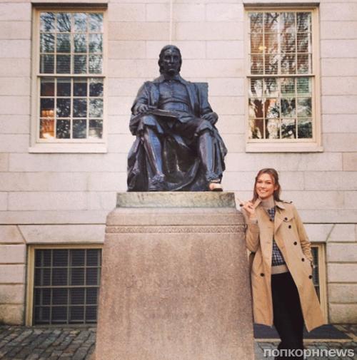 Карли Клосс отправляется в Гарвард