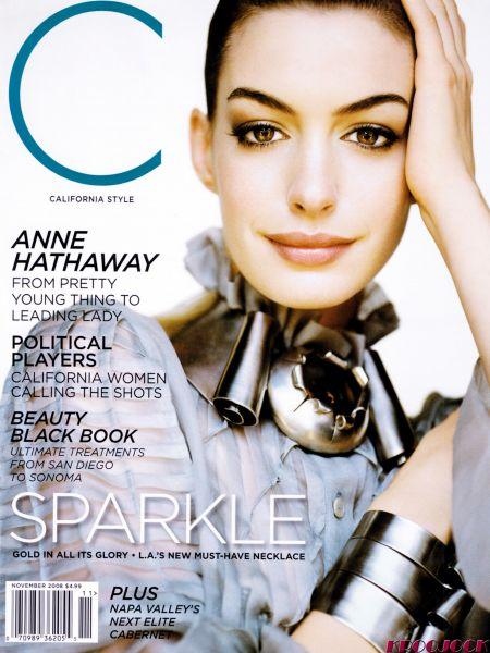 Энн Хэтэуэй в журнале California Style. Ноябрь 2008