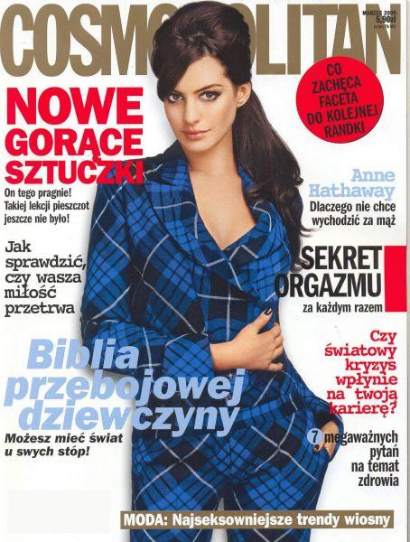 Энн Хэтэуэй в журнале Cosmopolitan Польша. Март 2009