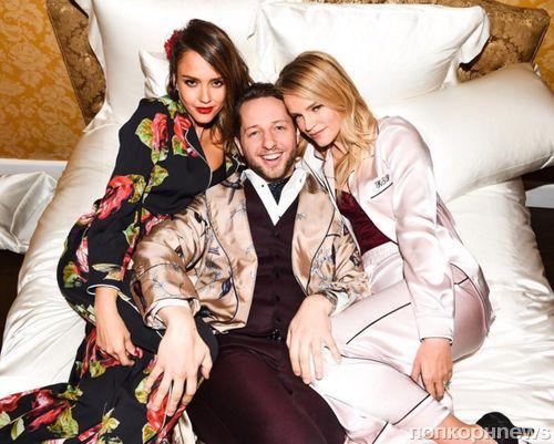 Звезды на пижамной вечеринке Dolce & Gabbana в Лос-Анджелесе