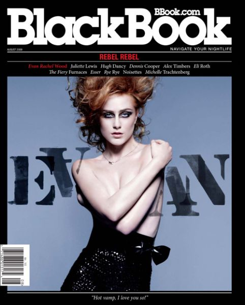 Ивэн Рейчел Вуд в журнале Blackbook. Август 2009