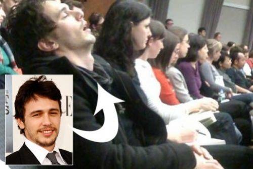 Джеймс Франко спит на занятиях