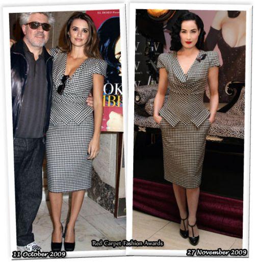 Fashion battle: Пенелопа Крус и Дита фон Тиз