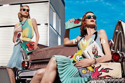 Рекламный ролик новой коллекции Prada. Весна / лето 2012