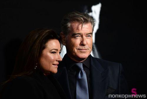 Джессика Честейн и Пирс Броснан на премьере сериала «Сын» AMC