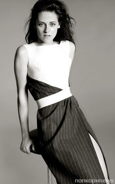 Кристен Стюарт на съемках рекламной кампании Balenciaga