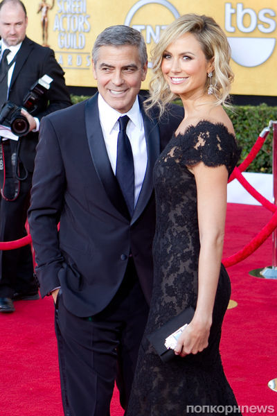 Джордж Клуни и Стейси Киблер получили пищевое отравление