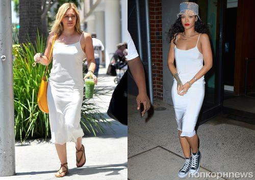 Fashion battle: Хилари Дафф и Рианна