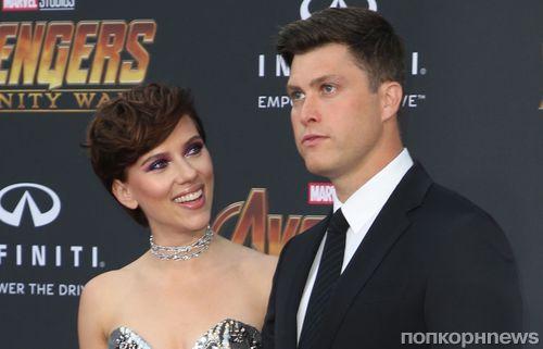 Фото: Скарлетт Йоханссон привела нового бойфренда Колина Жоста на премьеру «Мстителей»