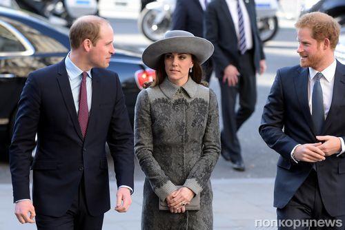 Принц Уильям, Кейт Миддлтон и королевская семья на церковной службе в честь Дня Содружества