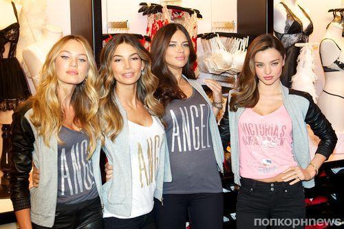 Ангелы Victoria's Secret на презентации новой коллекции в Нью-Йорке