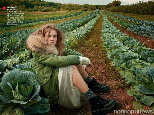 Наталья Водянова в журнале Vogue. Октябрь 2014