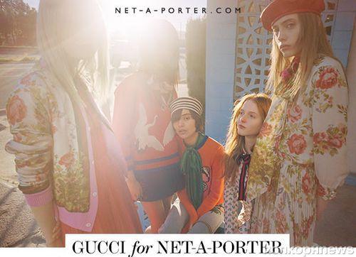 Gucci представил капсульную коллекцию для Net-a-Porter