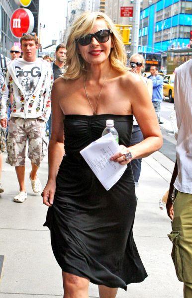 """Ким Кэтролл и Синтия Никсон на съемках """"Секса в большом городе 2"""""""