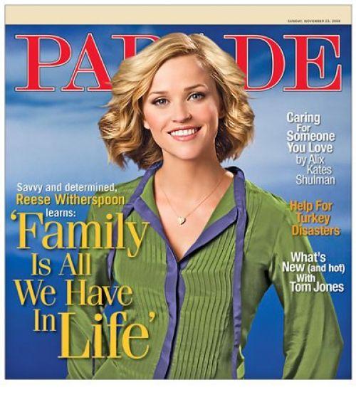 Риз Уизерспун в журнале Parade. Ноябрь 2008
