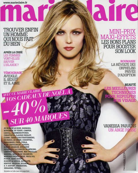 Ванесса Паради в журнале Marie Claire. Франция. Декабрь 2009