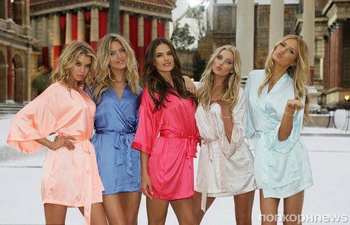 Фото: Victoria's Secret снимают рождественскую кампанию в Риме
