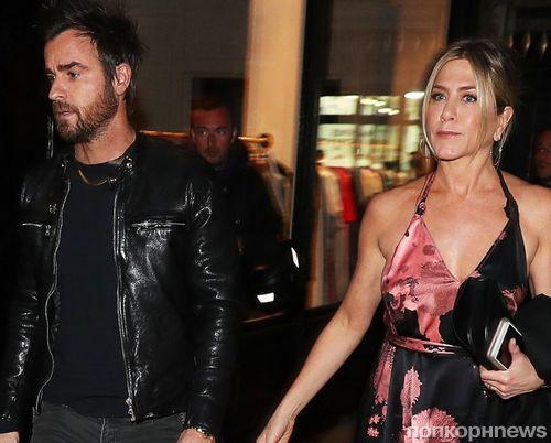 Дженнифер Энистон и Джастин Теру продолжают наслаждаться парижскими каникулами