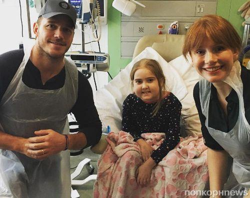 Крис Прэтт навестил детей-пациентов лондонской больницы