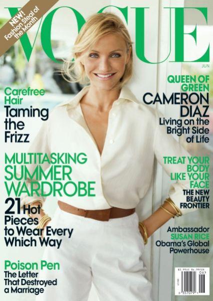 Кэмерон Диаз в журнале Vogue. Июнь 2009