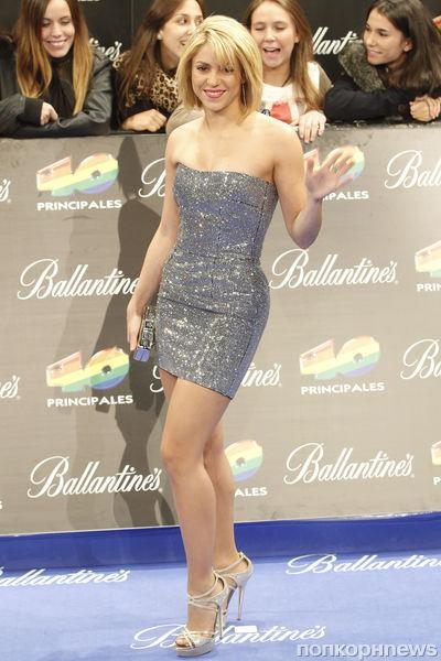Шакира и Энрике Иглесиас на церемонии 40 Principales Awards