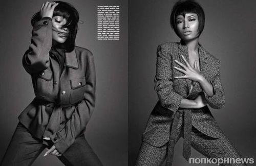 Ники Минаж в журнале L'Uomo Vogue. Октябрь 2014