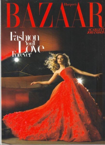 Скарлетт Йоханссон на обложке Harper's Bazaar. Февраль 2009