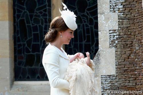 Принц Уильям и Кейт Миддлтон крестили принцессу Шарлотту (фото)